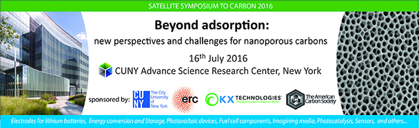 Satellite Symposium to CARBON 2016: Beyond Adsorption, NY 2016