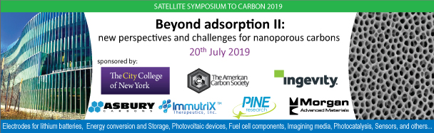 Satellite Symposium to CARBON 2019: Beyond Adsorption II, NY 2019